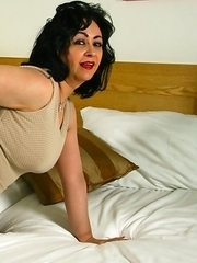 Horny Dutch housewife getting wet and wild on her bed