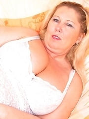 Naughty BBW getting ready to party by herself